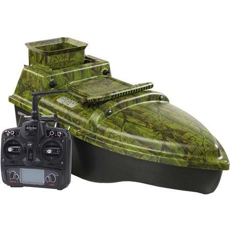 Bateau amorceur ANATEC MONOCOQUE S OAK LITHIUM + MOTEUR BRUSHLESS FISHING ROBOT + DE-SR07