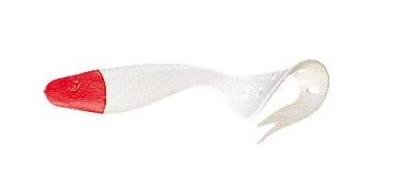 2 leurres souples DELALANDE SANDRA 16cm coloris BLANC TETE ROUGE