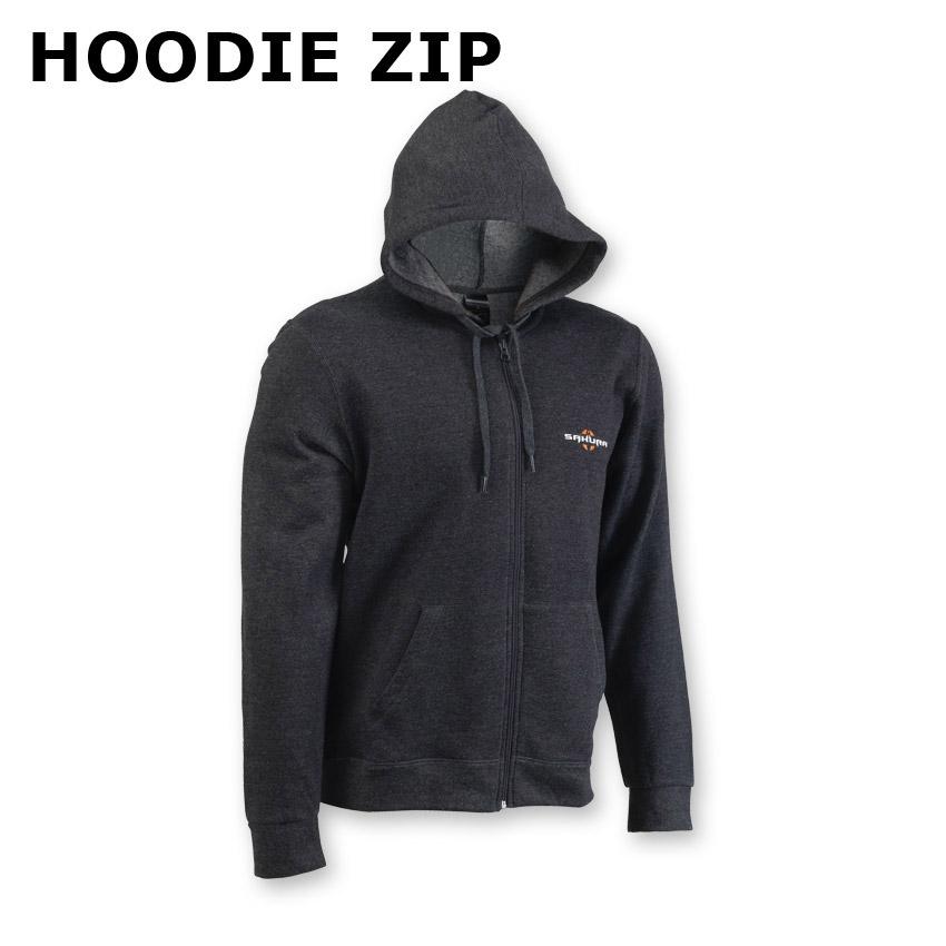 Hoodie zip SAKURA - noir