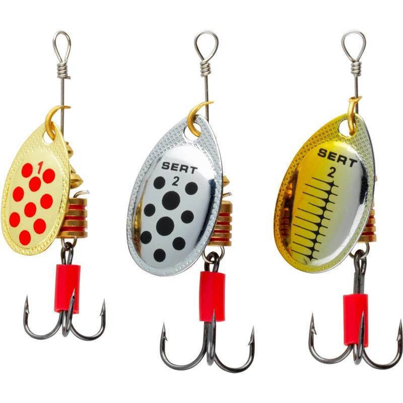 Kit de 3 cuillères de pêche à la truite SERT SPOONY TRUITE