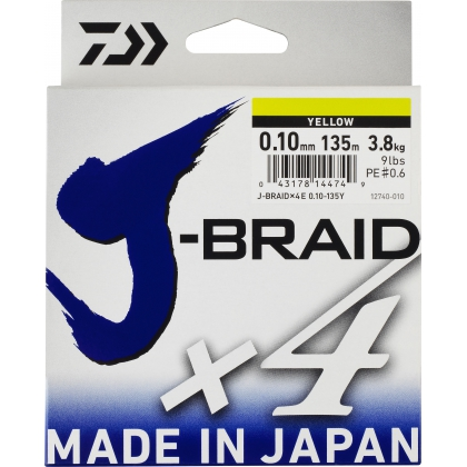 Tresse 4 brins DAIWA J-BRAID x4 135m
