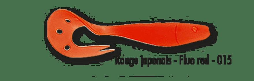 1 leurre souple DELALANDE SANDRA 12cm Rouge japonais