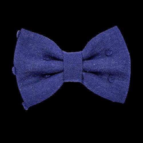 Barrette anti glisse plumetis bleu marine