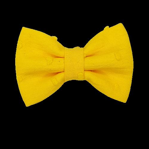 Barrette anti glisse plumetis jaune