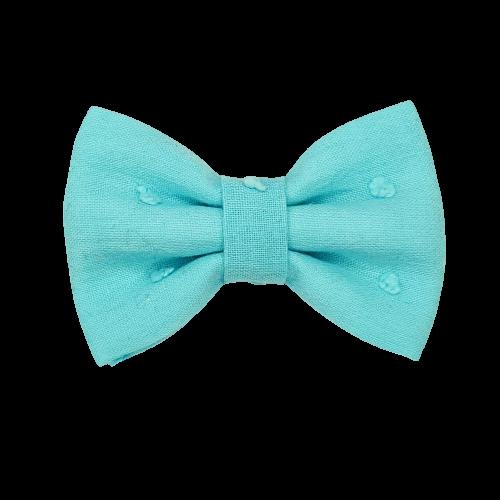 Barrette anti glisse plumetis bleu lagon