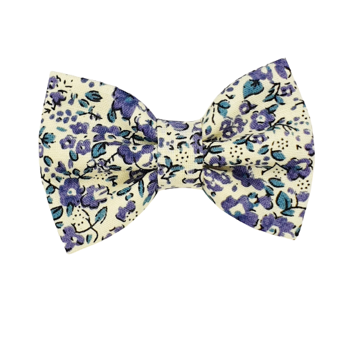Barrette anti glisse fleur vintage bleu