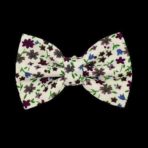 Barrette anti glisse blanche motif fleur violet