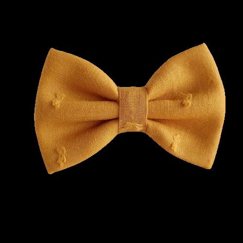 Barrette plumetis moutarde