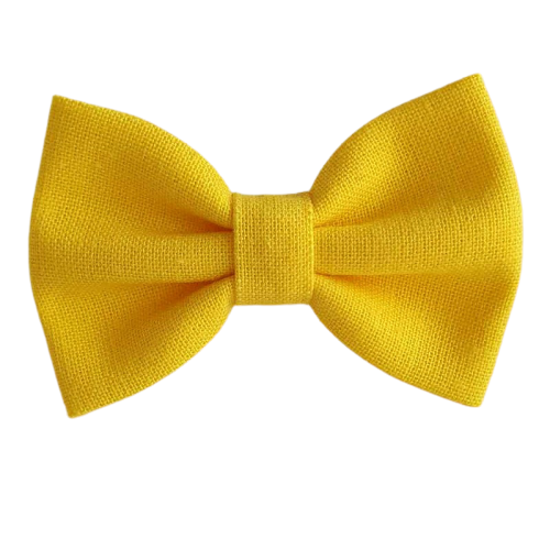Barrette anti glisse  couleur jaune vif