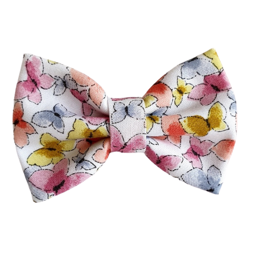 Barrette anti glisse motif papillon couleur