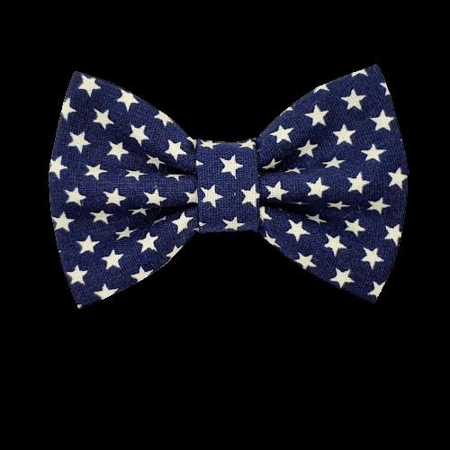 Barrette anti glisse bleu marine étoile blanche