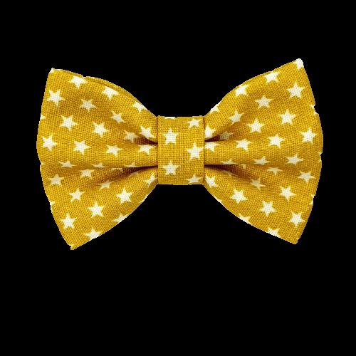 Barrette anti glisse moutarde étoile blanche