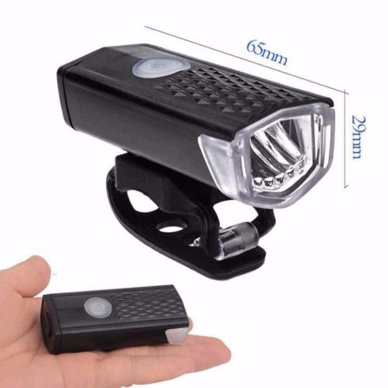 Eclairage avant de vélo Rechargeable USB / 300 Lumens / étanche 6000 K