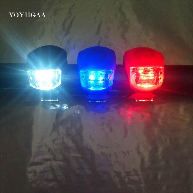 Eclairage Vélo  étanche en Silicone avec des lumières LED pour Vélo/ Trottinette, montage avant arrière