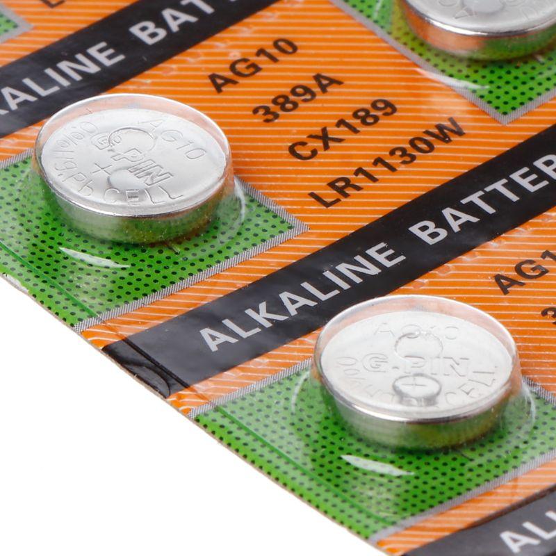 2 pièces-bouton-pile-bouton-AG10-1-5V-montre-piles-SR54-389-189-LR1130-SR1130