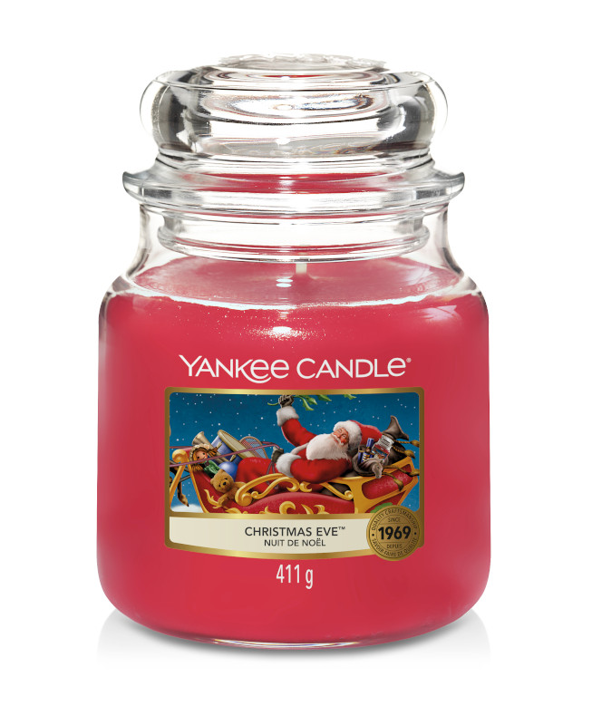Bougie Christmas Eve moyenne jarre