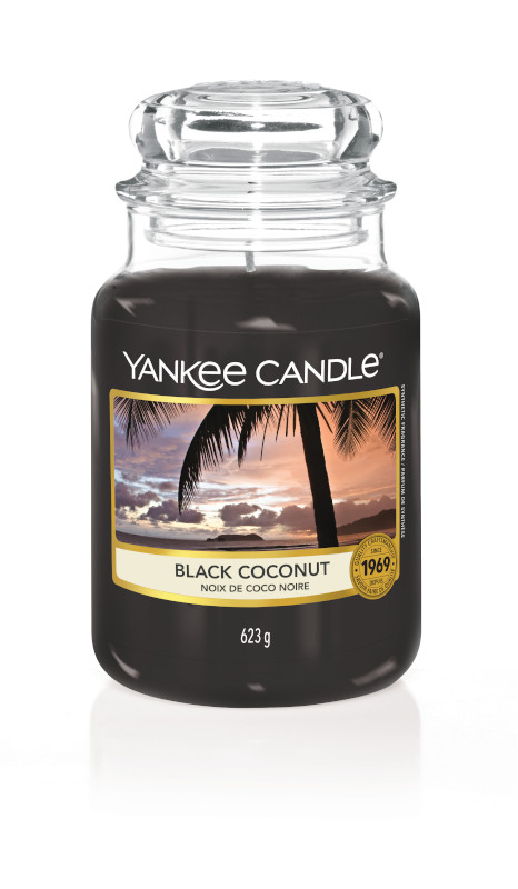 Bougie Black Coconut grande jarre - Yankee Candle