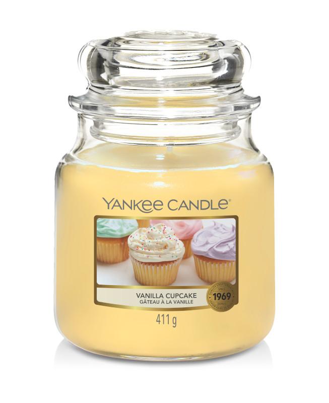 Bougie Vanilla Cupcake moyenne jarre