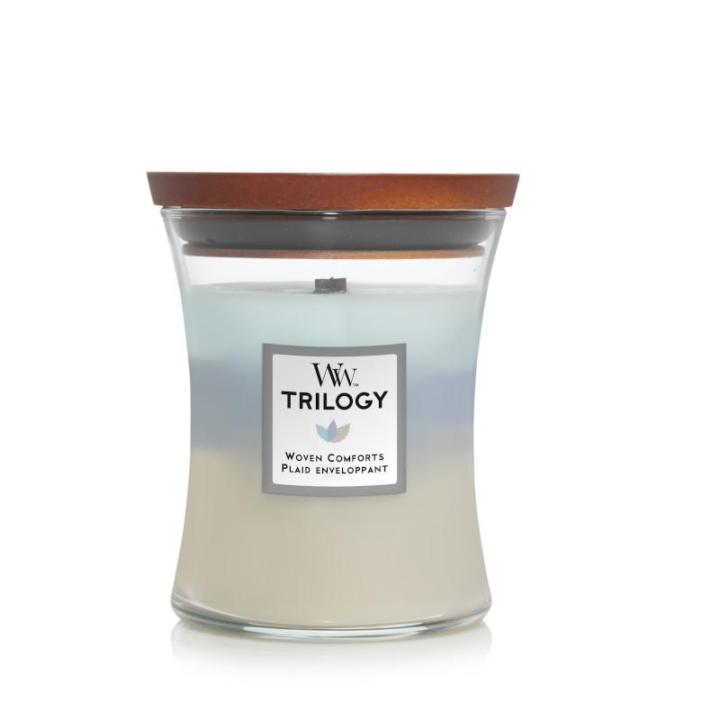Bougie Plaid Enveloppant moyenne jarre (gamme Trilogy)