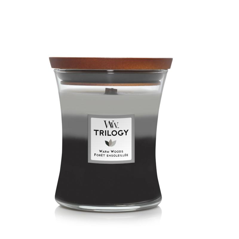 Bougie Forêt Ensoleillée moyenne jarre (gamme Trilogy)