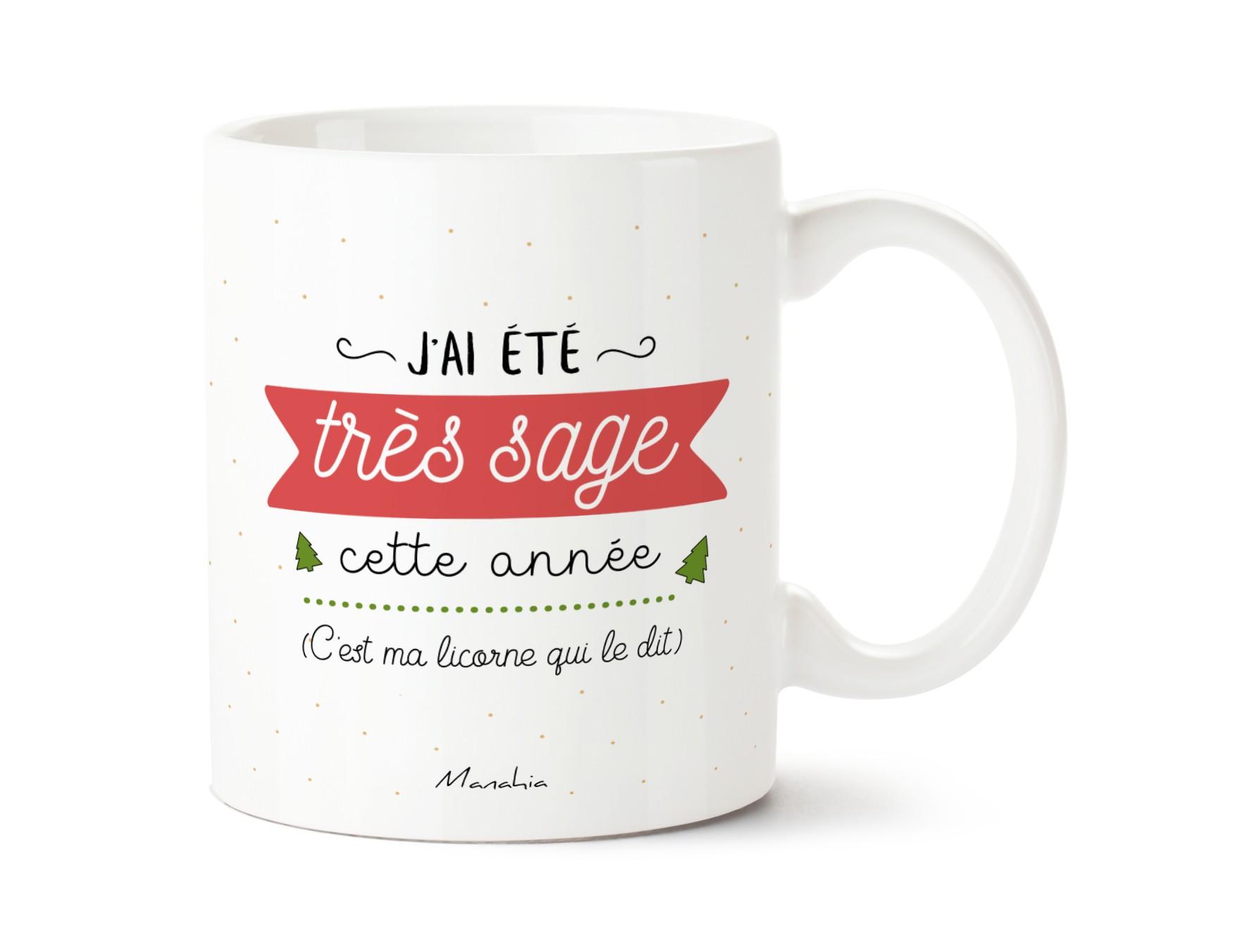 Mug J'ai été sage cette année (c'est ma licorne qui le dit) 1