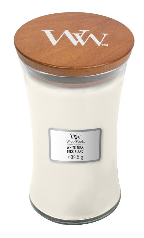 Bougie Teck Blanc grande jarre