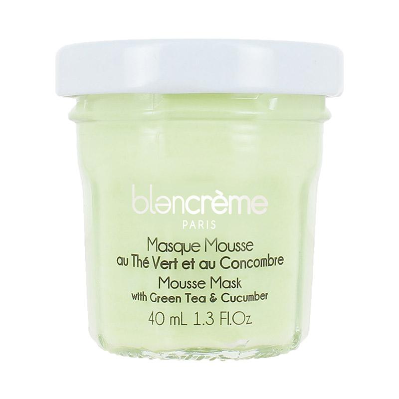 Masque visage mousse thé vert et concombre