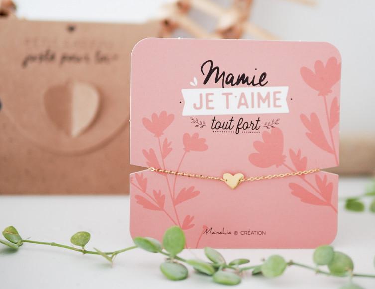 Bracelet Mamie je t'aime tout fort (coeur) 1