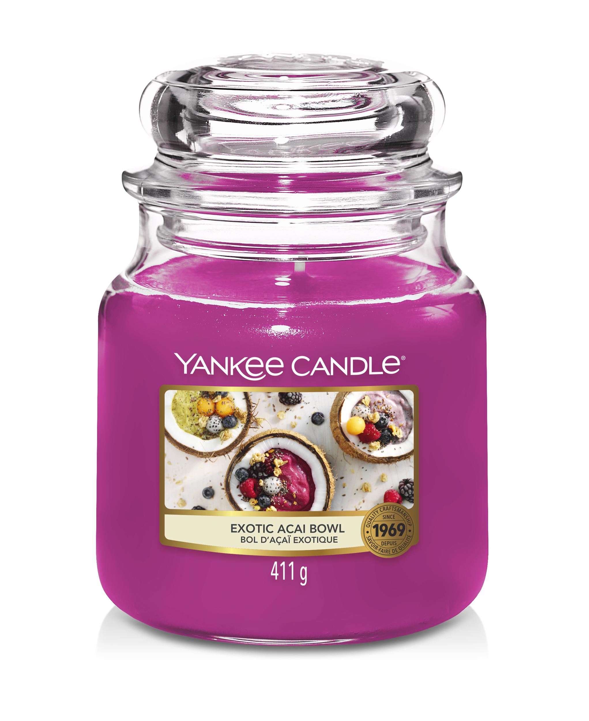 Bougie Exotic Acai Bowl moyenne jarre - Yankee Candle