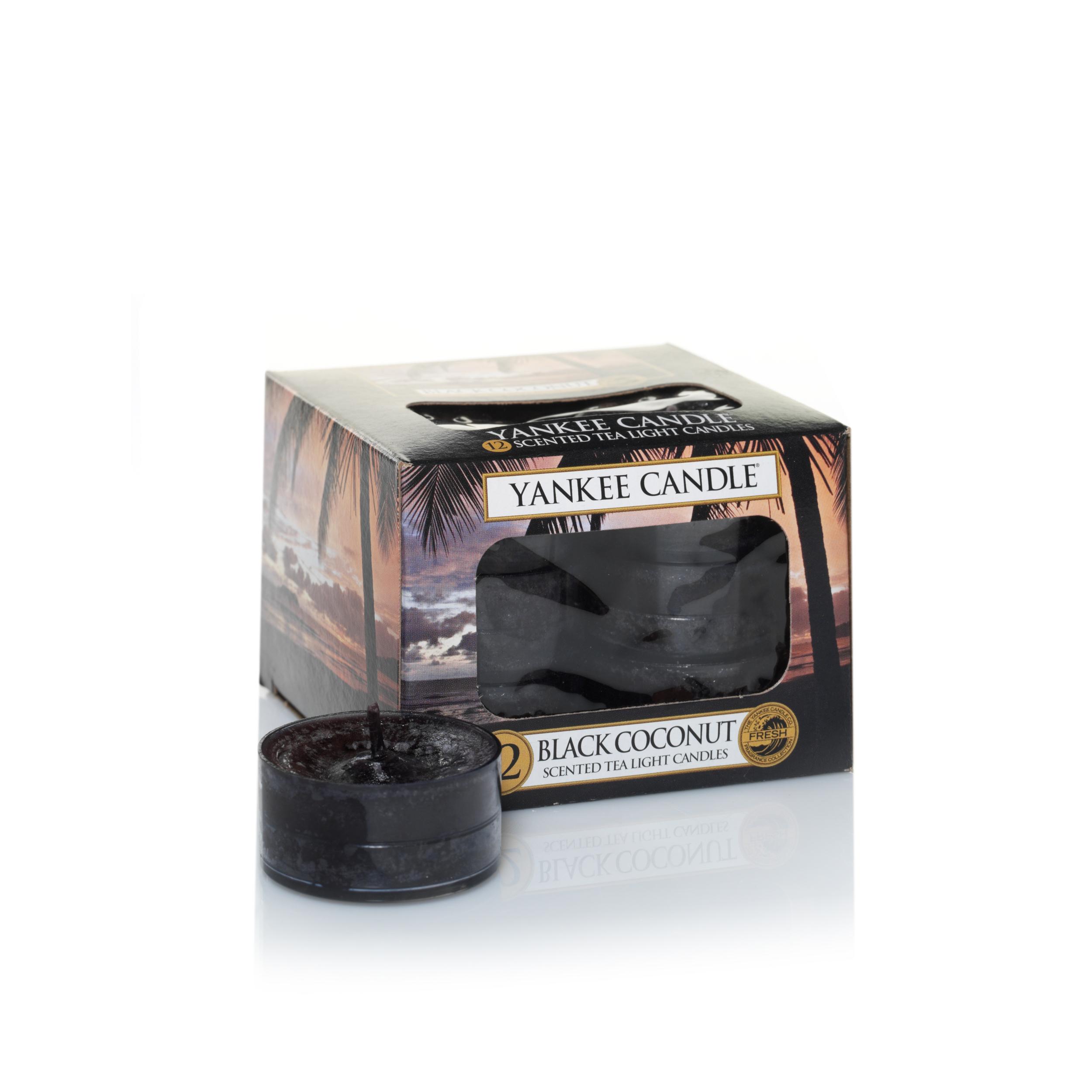 Bougie Black Coconut (boîte de 12 lumignons/chauffe-plats)