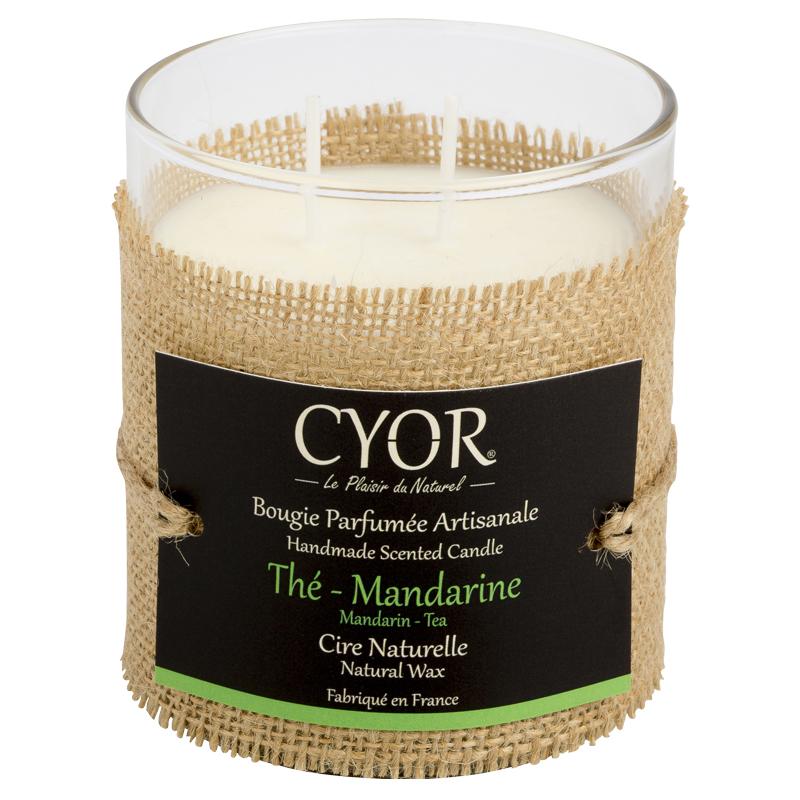 Bougie Thé - Mandarine 2 mèches - Cyor