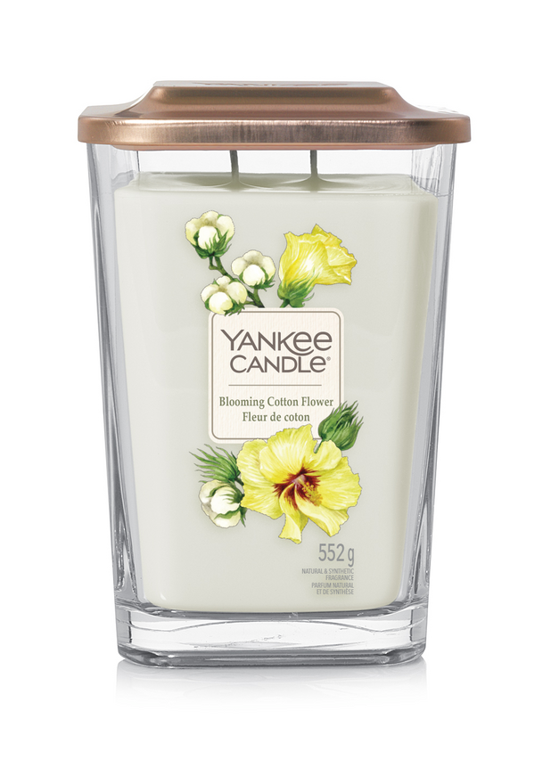 Bougie Fleur De Coton grande jarre (gamme Elevation)
