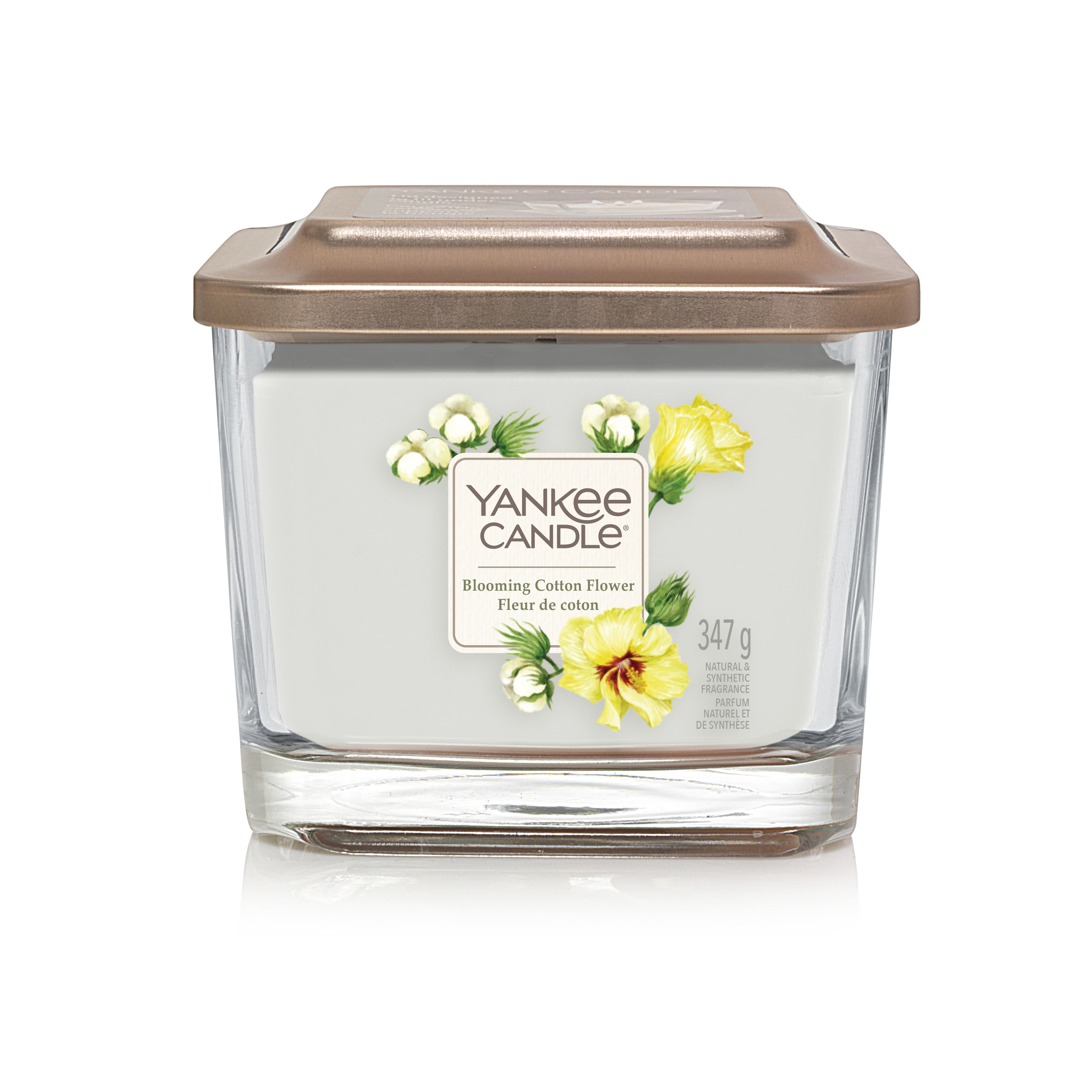 Bougie Fleur De Coton moyenne jarre (gamme Elevation)