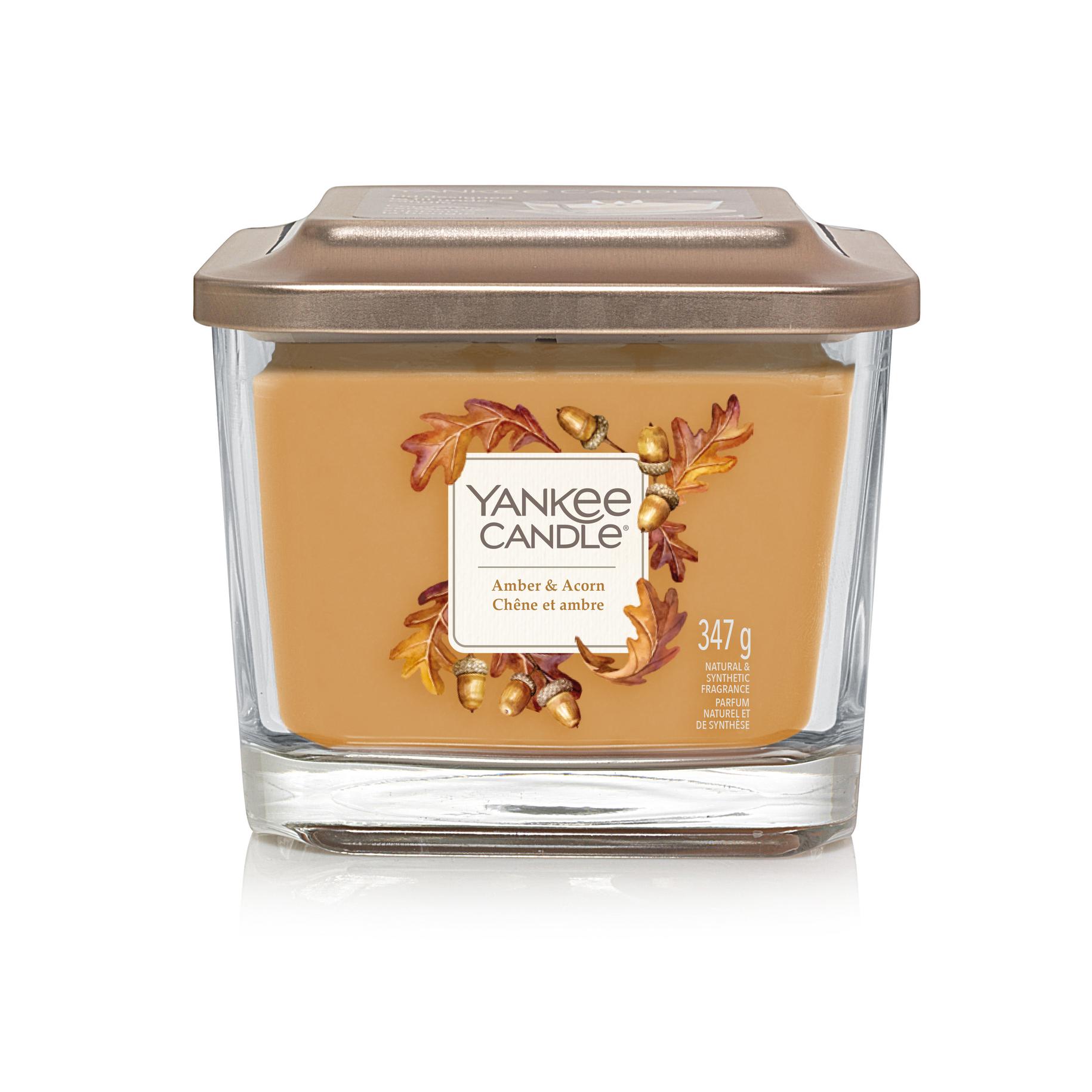 Bougie Chêne Et Ambre moyenne jarre (gamme Elevation) - Yankee Candle