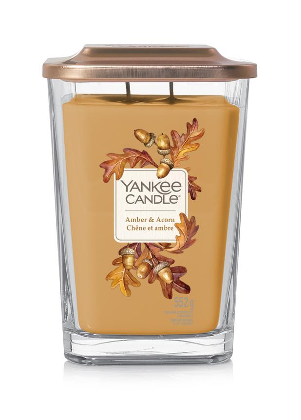 Bougie Chêne Et Ambre grande jarre (gamme Elevation) - Yankee Candle