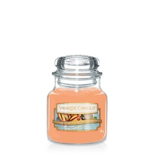 Bougie Grilled Peaches & Vanilla (Pêches Grillées & Vanille) petite jarre - Yankee Candle