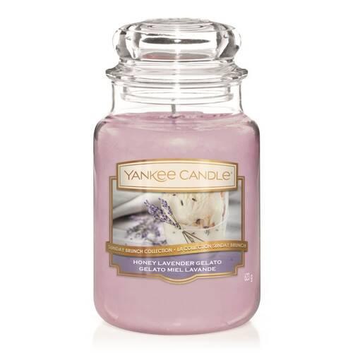 Bougie Honey Lavender Gelato (Gelato Miel Lavande) grande jarre - Yankee Candle