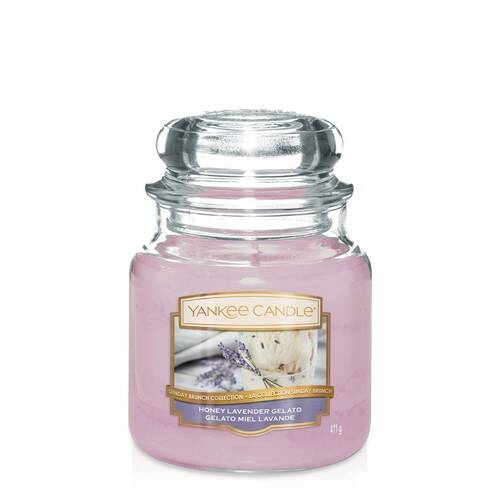 Bougie Honey Lavender Gelato (Gelato Miel Lavande) moyenne jarre - Yankee Candle
