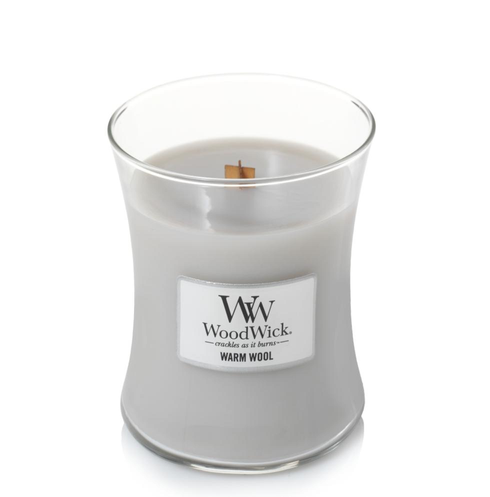 Bougie Douceur De Laine moyenne jarre - WoodWick 1