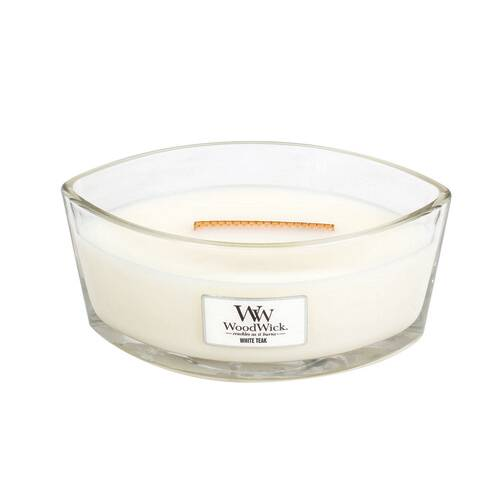 Bougie Teck Blanc Ellipse - WoodWick