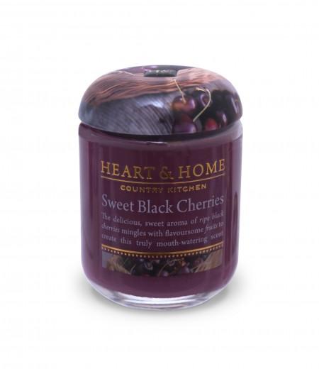 Bougie parfumée Cerise Noire Gourmande 115g - Heart & Home 1