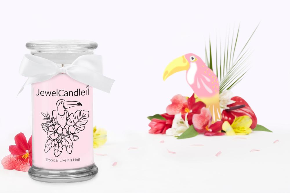 Bougie parfumée Tropical Like It's Hot (Boucles d'oreilles) - JewelCandle