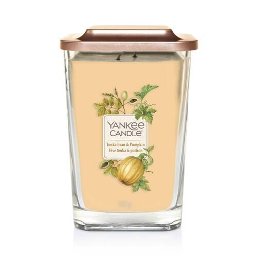 Bougie Fève Tonka & Potiron grande jarre (gamme Elevation) - Yankee Candle 1
