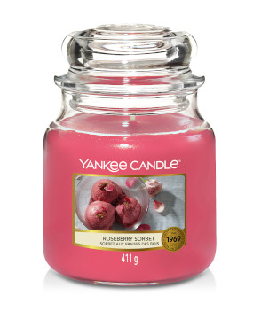 Bougie Roseberry Sorbet moyenne jarre - Yankee Candle