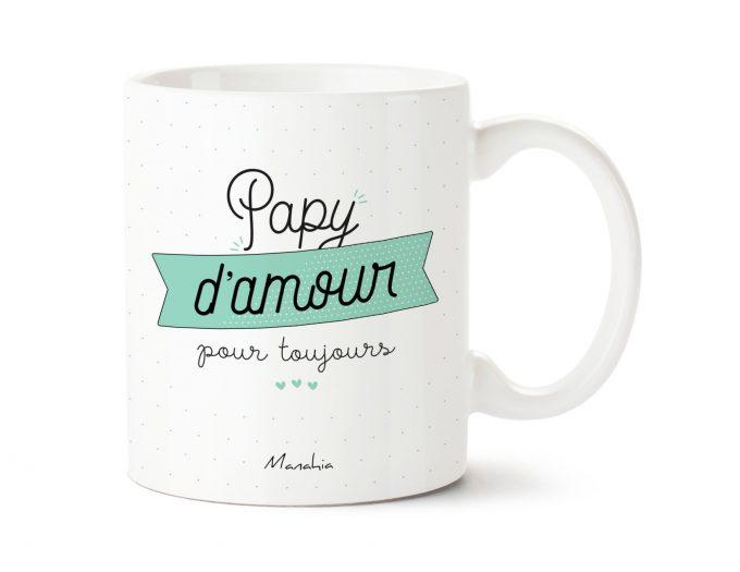 Mug grand-père Papy d'amour pour toujours 1