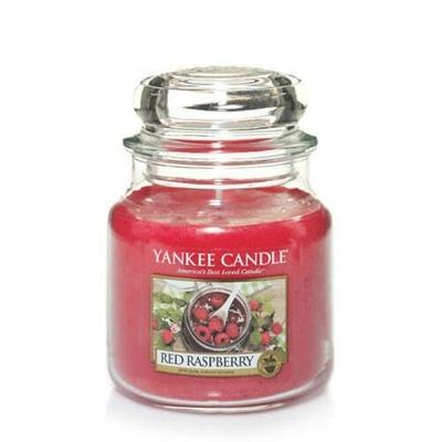 Bougie Red Raspberry moyenne jarre - Yankee Candle