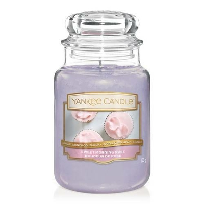 Bougie Sweet Morning Rose grande jarre - Yankee Candle
