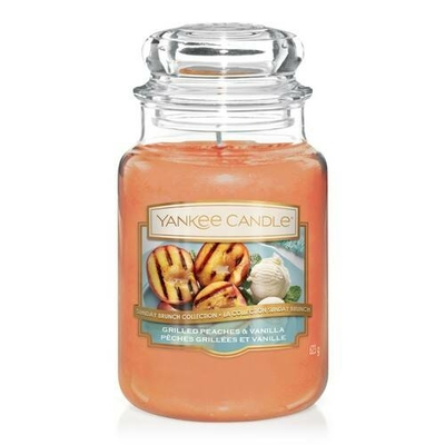 Bougie Grilled Peaches & Vanilla (Pêches Grillées & Vanille) grande jarre - Yankee Candle
