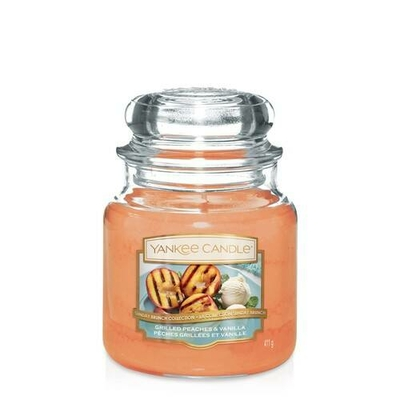 Bougie Grilled Peaches & Vanilla (Pêches Grillées & Vanille) moyenne jarre - Yankee Candle