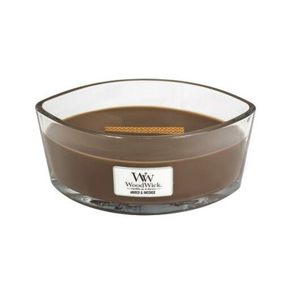 Bougie Ambre & Encens Ellipse - WoodWick